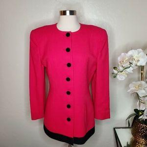 VTG Christian Dior Blazer Jacket Sz 4 100% Wool